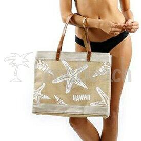 [SEVEN ISLAND] 【BR001】バーラップトートバッグ Burlap tote bag/Hawaii Starfish Beach Bag ハワイスターフィッシュ ヒトデ ビーチバッグ【アロハ】【ハワイ】【ALOHA】【HAWAII】【セブンアイランド】【SS0604】【asu】