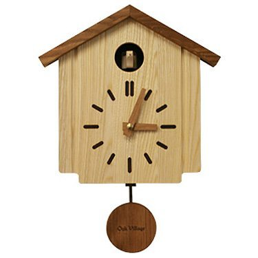 *ポイント15倍!!【送料無料(一部地域除く)!!】オークヴィレッジ カッコークロック 森の巣箱 (掛け時計・鳩時計・木製・出産祝い・幼児・ギフト・お祝い・プレゼント)