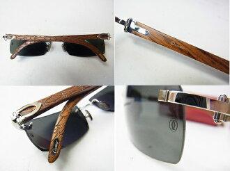 cartier cartier wood frame sunglasses glasses men 0250 product name product name product name - Wood Framed Sunglasses
