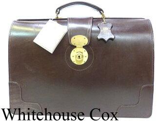 未使用的白宫考克斯布莱美元皮革博士包Whitehouse Cox 1057商务包公文包