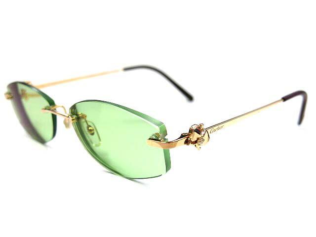 ER美品 カルティエ K18PG金無垢×ダイヤ 眼鏡 メガネ 750☆0046【中古】Cartier ピンクゴールド アイウェア サングラス
