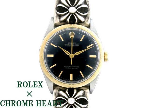 ロレックス1008ゼファー×クロムハーツ ファンシーチェーン 0900【中古】ROLEX CHROME HEARTS