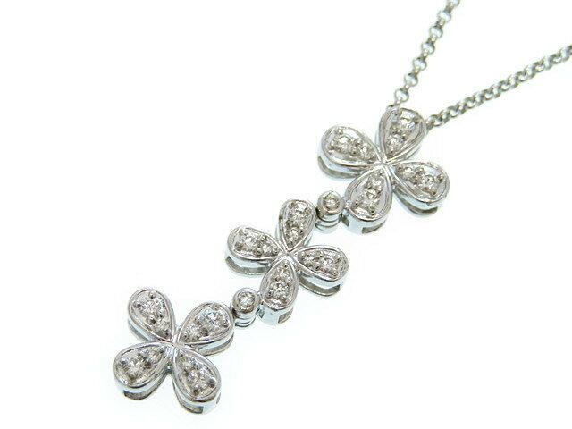 田崎真珠(Tasaki) K18WG×ダイヤモンド チェーン ネックレス0162【中古】ホワイトゴールド アクセサリー