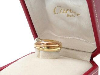 和磨砺济新货一样的卡地亚三位一体3连环K18YG K18PG K18WG粉红黄金白色合金黄色黄金0337Cartier