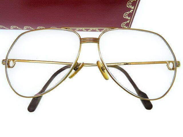 カルティエ トリニティ メガネ フレーム ゴールド 眼鏡 0528 【中古】 Cartier