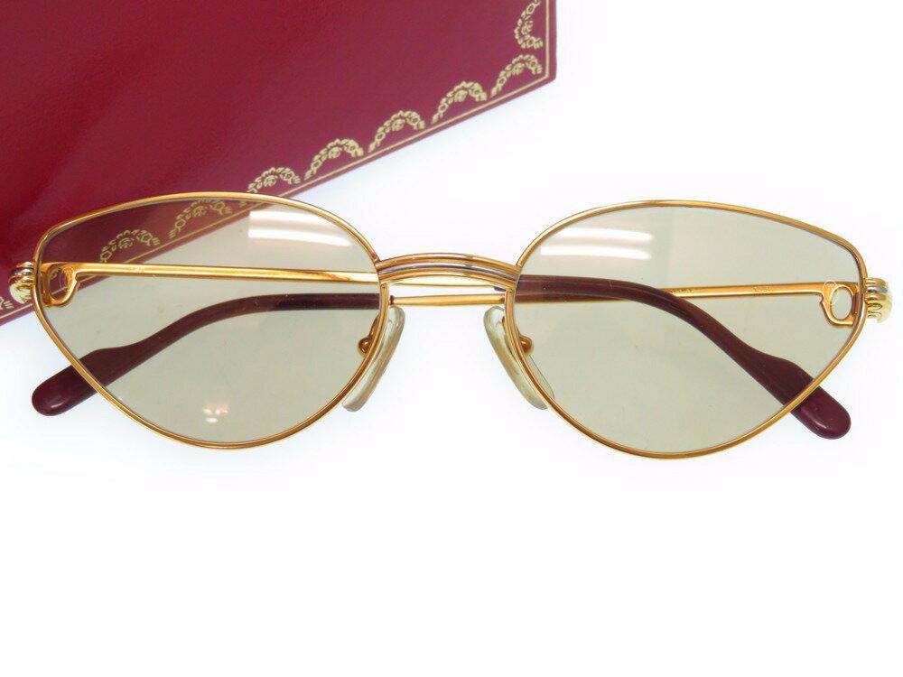 新品同様 カルティエ トリニティ サングラス アイウェア メガネ ゴールドフレーム 眼鏡 0248 【中古】 CARTIER