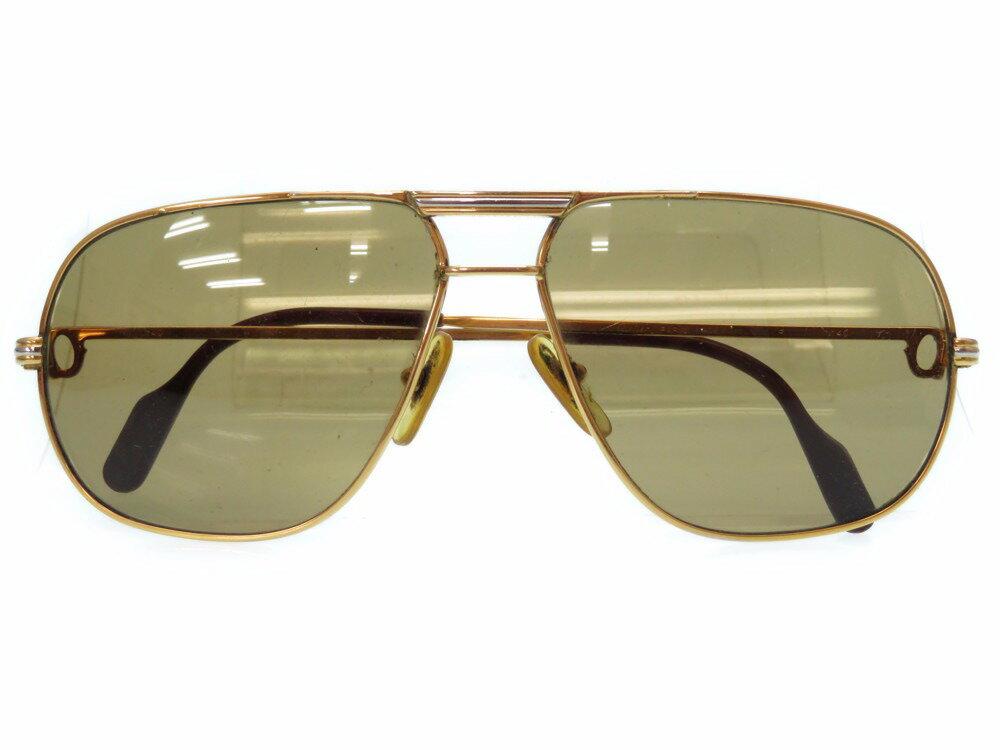 カルティエ トリニティ サングラス アイウェア メガネ 眼鏡 ゴールド 0250 【中古】 CARTIER