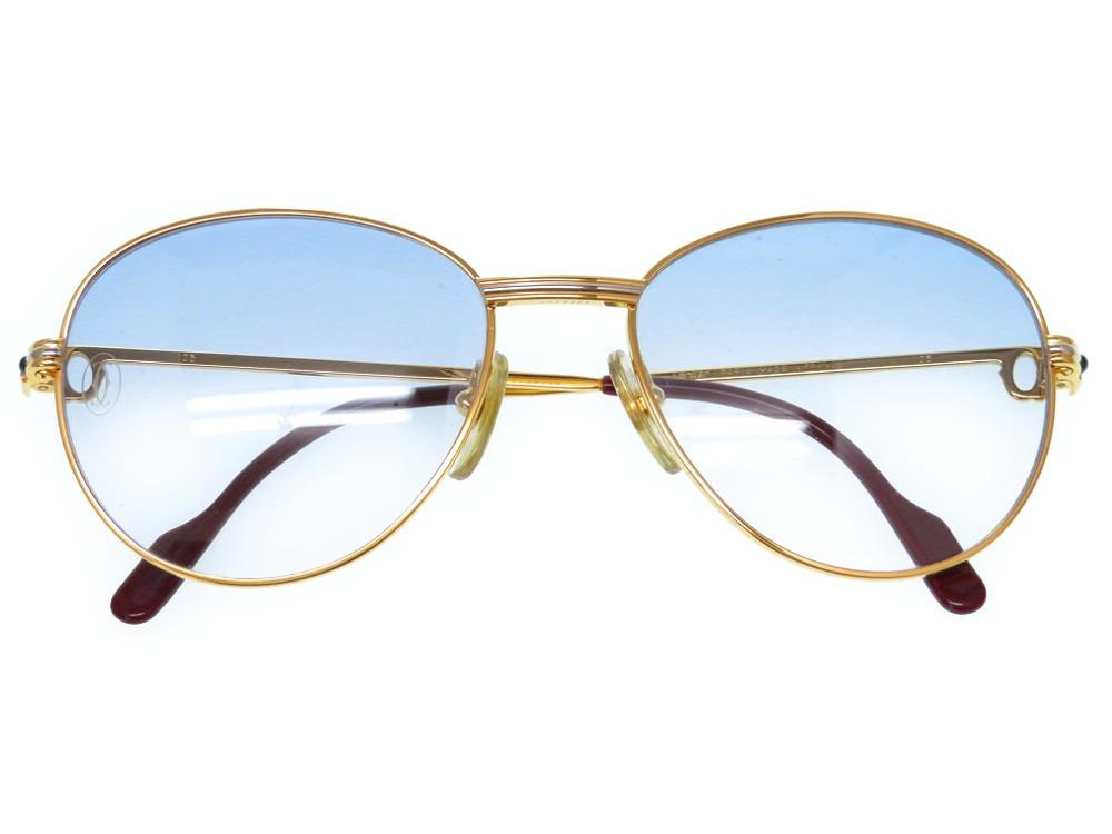 美品 カルティエ トリニティ サファイア 眼鏡 メガネ アイウェア サングラス ゴールド 0234【中古】CARTIER メンズ レディース