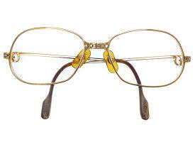 カルティエ ラニエール 眼鏡 メタル ゴールド/シルバー カラー 0235【中古】CARTIER