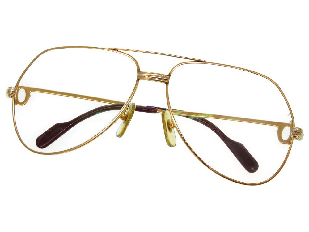 カルティエ トリニティ 眼鏡 アイウェア ゴールド 0236【中古】CARTIER メンズ レディース