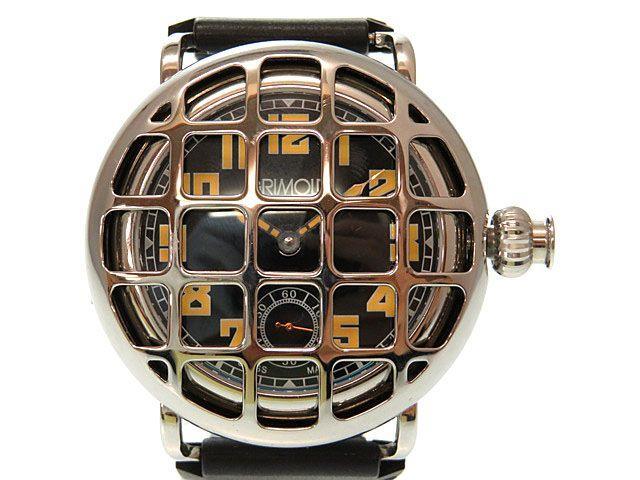美品 グリモルディ モンフォルテ 手巻き式 メンズ 腕時計 0515 【中古】 GRIMOLDI MONFORTE