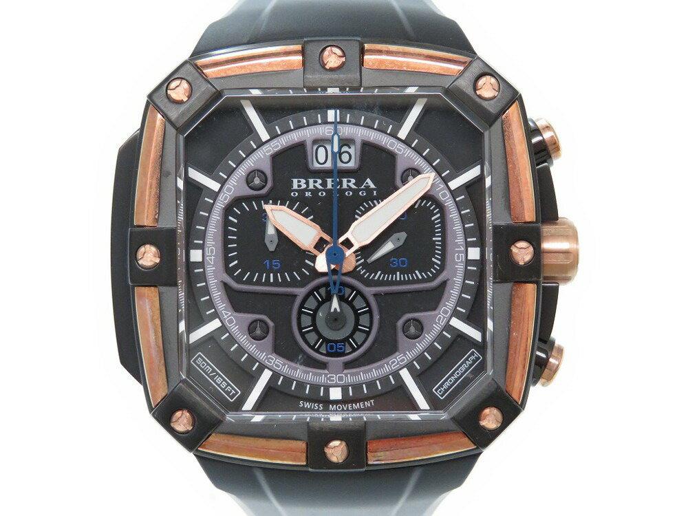 ブレラ オロロジ スーパースポルティーボ BRSS2C4603 腕時計 ブラック 0336【中古】BRERA OROLOGI メンズ