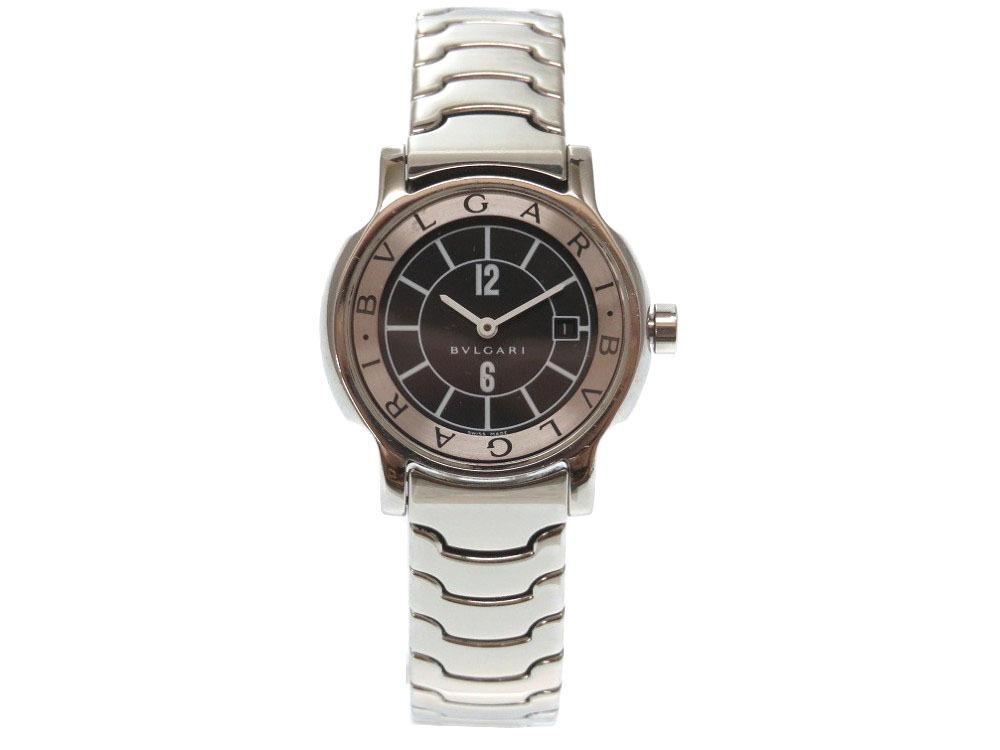 美品 ブルガリ ソロテンポ ST29S 腕時計 ステンレス シルバー 0108 【中古】 BVLGARI レディース