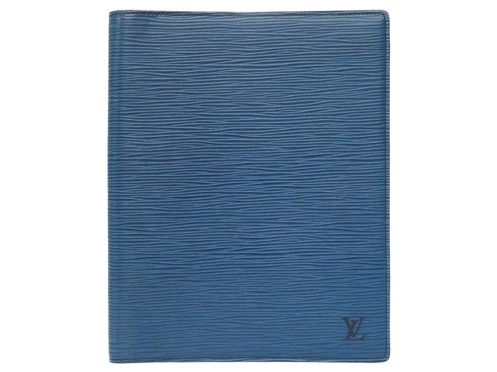 新品同様 ルイ ヴィトン エピ アジェンダビューロー ブルー ブックカバー カバー LV 0220 【中古】 LOUIS VUITTON