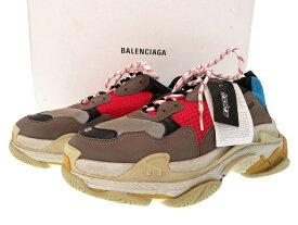 未使用 バレンシアガ トリプルエス レースアップ スニーカーシューズ グレー 0134【中古】BALENCIAGA メンズ