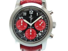 ジラールペルゴ フェラーリ 330/P4 自動巻き 腕時計 86028 ブラック/レッド 黒/赤 0071【中古】GIRARD-PERREGAUX メンズ