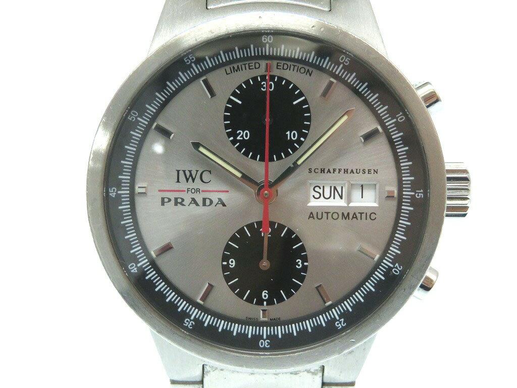 IWC × PRADA GSTクロノグラフ 2000本限定 IW370802 自動巻き 腕時計 SS オートマチック メンズ 0012【中古】インターナショナルウォッチカンパニー