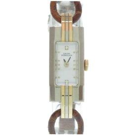 新品同様 ジラールペルゴ ヴィンテージ レディ 手巻き 腕時計 K18WG/K18PG シェル文字盤 0004【中古】GIRARD-PERREGAUX レディース
