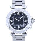 カルティエ パシャC 自動巻き 腕時計 W31043M7 SS ブラック 黒文字盤 オートマチック AT 0008【中古】CARTIER ユニセックス メンズ レディース