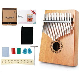 カリンバ 楽器 初心者セット 17音 17キー 親指ピアノ フィンガーピアノ アフリカ 民族楽器 オルゴール(カリンバ 基本セット)