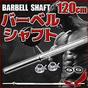 バーベルシャフト ゆるまない 標準装備 バーベル シャフト 筋トレ ダイエット フィットネス 運動 トレーニング(シャフト)