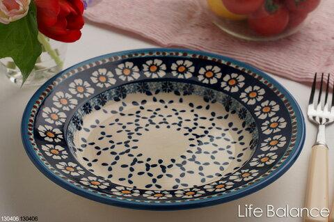 ポーリッシュポタリー ポーランド陶器・食器 Ceramika Artystyczna WIZA社スープ皿 (W204-25D)