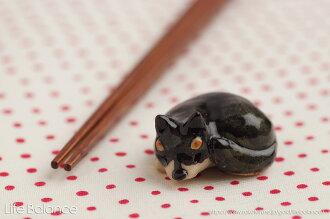 箸置きソラマメ商会豆屋はしおき日本の犬柴犬黒まんまるKR-027