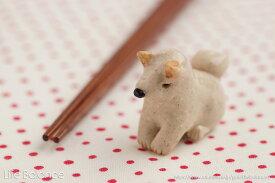 箸置き ソラマメ商会 豆屋 はしおき 日本の犬 柴犬 白 おすわり おじぎ KR-028