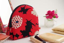 化粧ポーチ SAZARE SUSSU サザレ スッス (33)P-redflower 【母の日ギフト】【ラッピング無料】【メッセージカード】