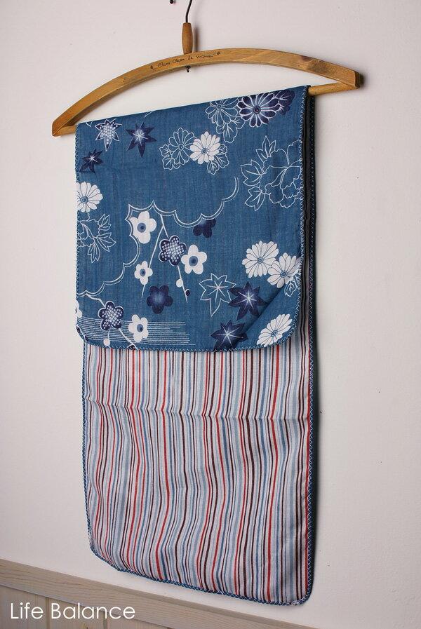 京都 くろちく 手ぬぐい40711303 両面ガーゼてぬぐい 浅葱色