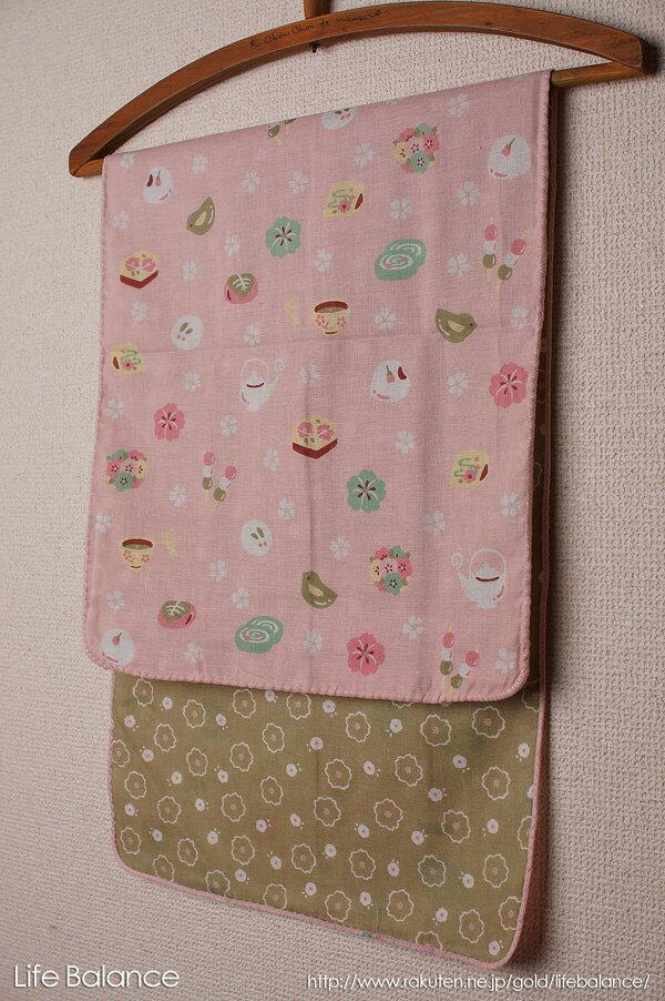 京都 くろちく 手ぬぐい 両面ガーゼてぬぐい 桜和菓子 41409902