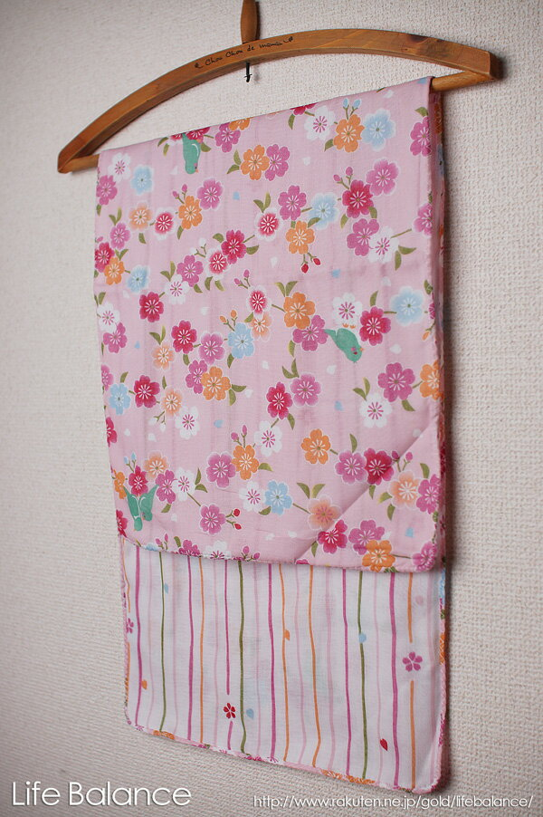 京都 くろちく 手ぬぐい 両面ガーゼてぬぐい 桜と小鳥 41609901
