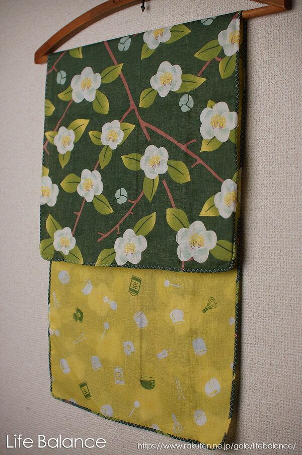 京都 くろちく 手ぬぐい 両面ガーゼてぬぐい 茶の花 41711802