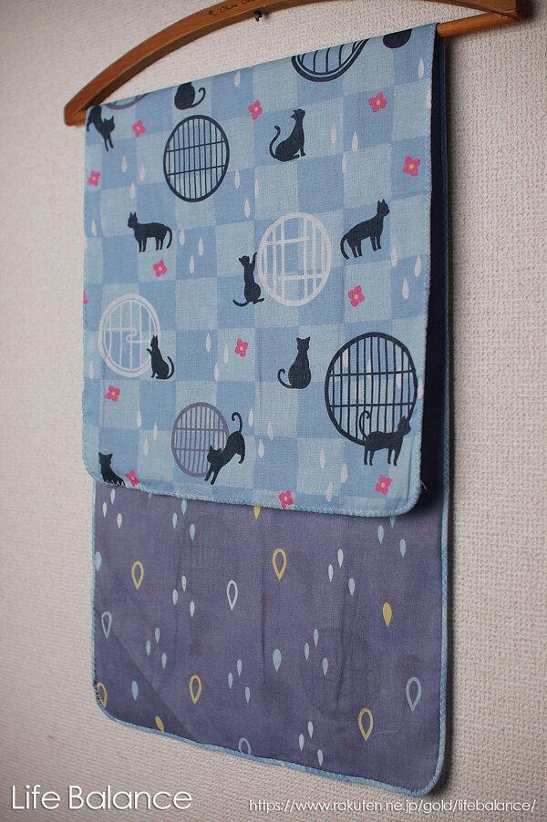 京都 くろちく 手ぬぐい 両面ガーゼてぬぐい 雫と黒猫 41711803