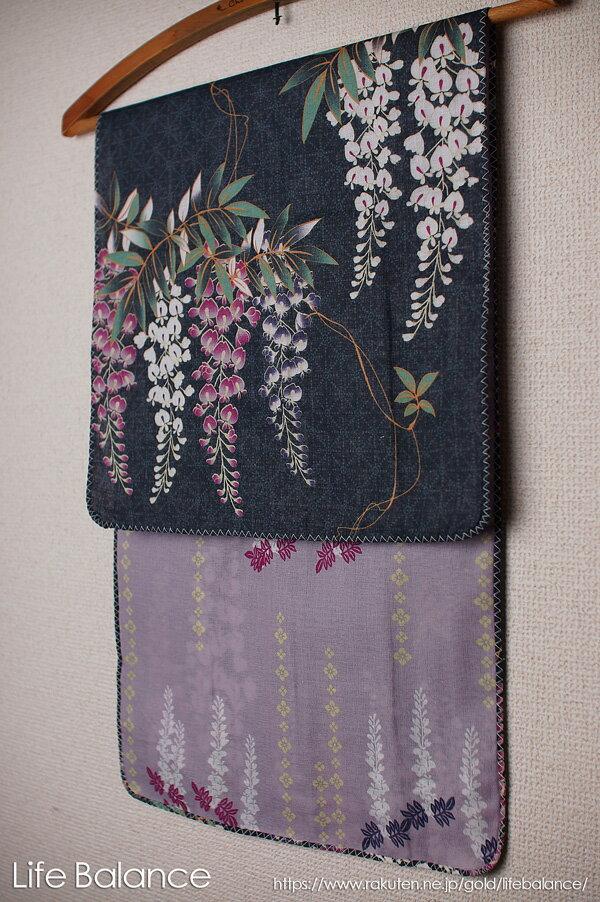 京都 くろちく 手ぬぐい 両面ガーゼてぬぐい 藤の花 41711903