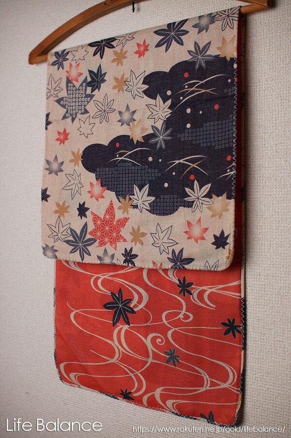 京都 くろちく 手ぬぐい 両面ガーゼてぬぐい 藍紅葉 41711905