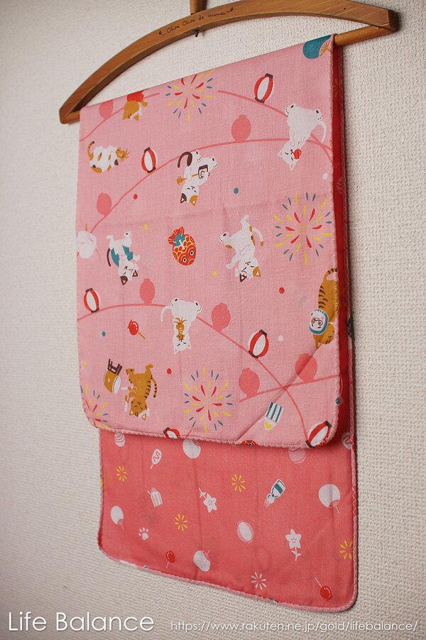 京都 くろちく 手ぬぐい 両面ガーゼてぬぐい 祭り猫 41802704