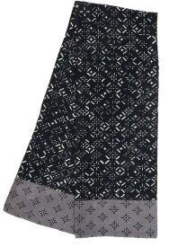京都 くろちく ガーゼマフラーコトカタコモン 黒地菱形紋 31909754