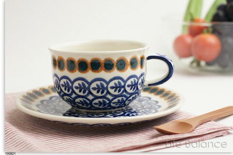 ドイツ ブンツラウワー陶器ハイゼ陶器 カップ&ソーサー 0.2L (ツィッグ) h017