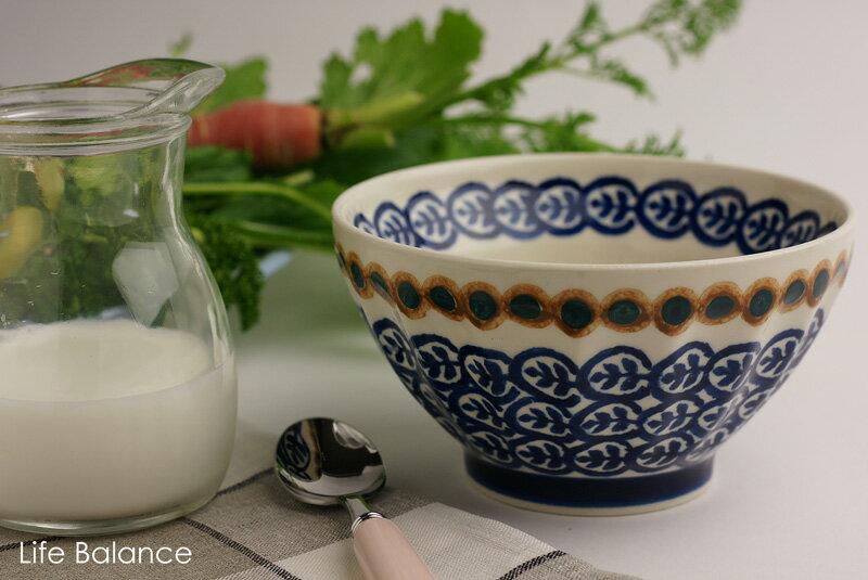 ドイツ ブンツラウワー陶器ハイゼ陶器 カフェオレボウル (ツィッグ) h082