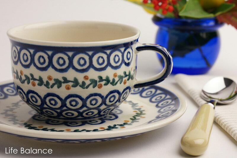 ドイツ ブンツラウワー陶器ハイゼ陶器 カップ&ソーサー 0.2L (ガーランド) h017