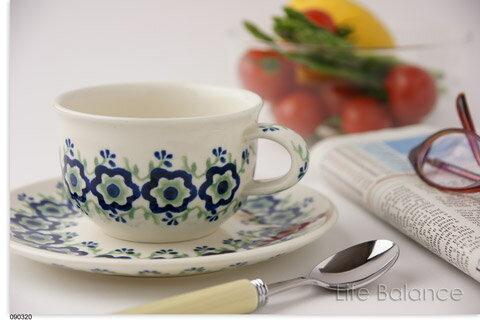 ドイツ ブンツラウワー陶器ハイゼ陶器 カップ&ソーサー 0.2L (アネモネ) h017