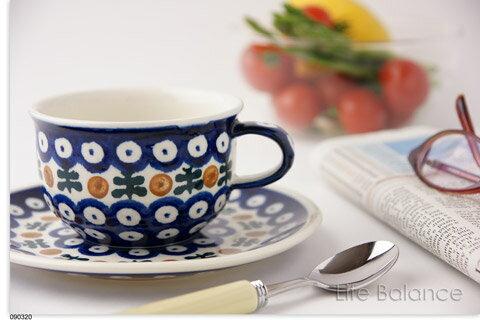 ドイツ ブンツラウワー陶器ハイゼ陶器 カップ&ソーサー 0.2L (テンドリル) PH01770