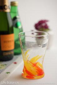 琉球ガラス グラス【泉川 寛勇 やんばるガラス工芸館】海蛍 アイスグラス てぃだ(太陽)(748-0012)