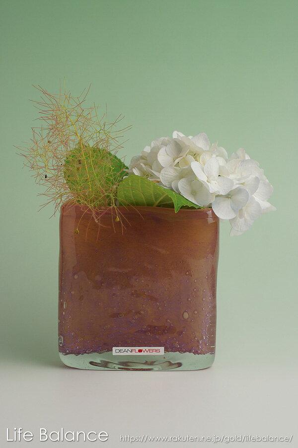 Henry Dean ヘンリーディーン フラワーベース ガラス 花器 花瓶 スクエア(XS) ウィンサムイエロー TA51120