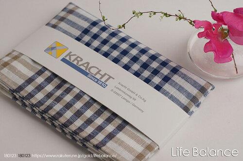 Kracht クラークト/ドイツ キッチンクロスドルトムント チェックA (ブルー)4562191981507