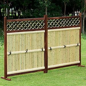 竹垣 目隠しフェンス 衝立 屋外 竹垣 フェンス 目隠し ガーデン フェンス 置くだけ 横型 2枚組