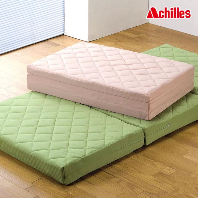 Achilles アキレス 日本製 吸湿速乾 キルト 硬質バランスマットレス 12cm厚タイプ 日本製 三つ折りマットレス