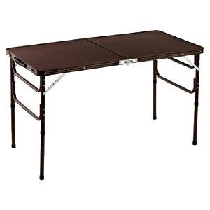 ハイテーブル ローテーブル 折りたたみ テーブル 高さ調節 折り畳みテーブル 木目調 軽量 120cm幅 1台2役