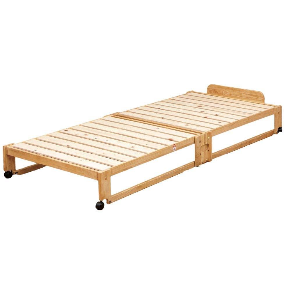 代金引換不可 中居木工 すのこベッド 折りたたみ シングル らくらく折りたたみ式すのこベッド 桧 ひのき ベッド 日本製